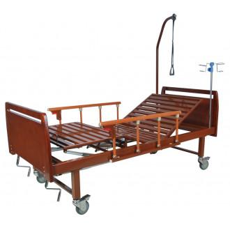 Кровать функциональная механическая Belberg 8-17 темное дерево с туал.устр. бук в Пятигорске