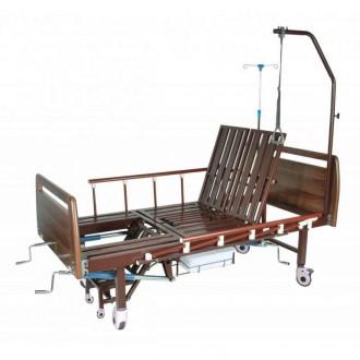 """Механическая медицинская кровать с санитарным оснащением DHC FF-2 с функциями """"кардио-кресло"""" и переворачивания пациента в Пятигорске"""