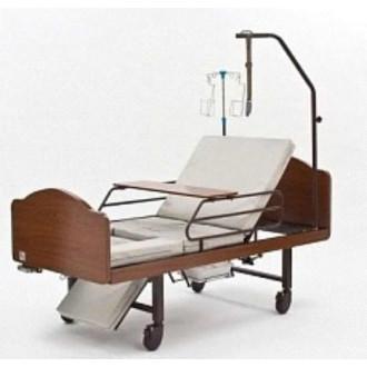 Кровать функциональная медицинская 3-х секционная механическая с санитарным оснащением DHC FF-3 в Пятигорске