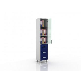 Шкаф для документов (верх стекло, низ ящики выдвижные) 105-001-13 в Пятигорске
