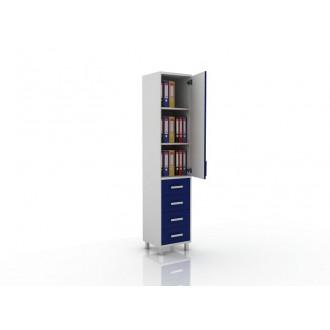 Шкаф для документов (глухая дверца сверху, снизу три ящика) 105-001-15 в Пятигорске