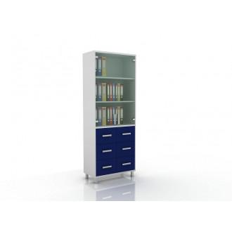 Шкаф для документов (верх стекло, низ ящики) 105-003-11 в Пятигорске
