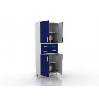 Шкаф для документов (глухие дверцы, 4 ящика в центре) 105-003-18 в Пятигорске