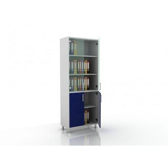 Шкаф для документов (стекло и глухие дверцы) 105-003-2 в Пятигорске