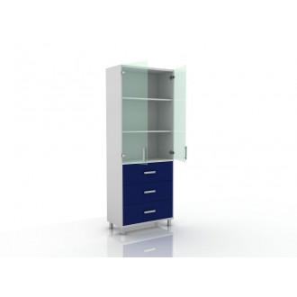 Шкаф для документов (верх стекло, низ ящики) 105-003-20 в Пятигорске