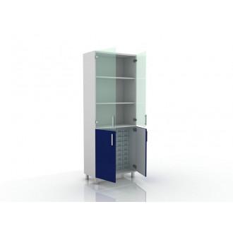 Шкаф для медикаментов (верх стекло, низ- глухие двери) 105-004-16 в Пятигорске