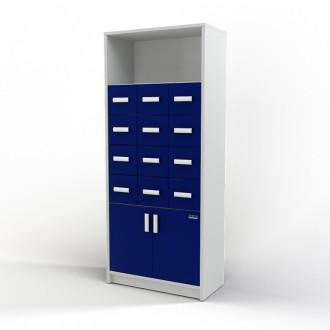 Шкаф картотечный (полки/глухие дверцы) 105-004-3 в Пятигорске